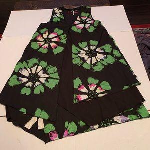 Desigual Dress Asymmetrical Abstract Floral Print